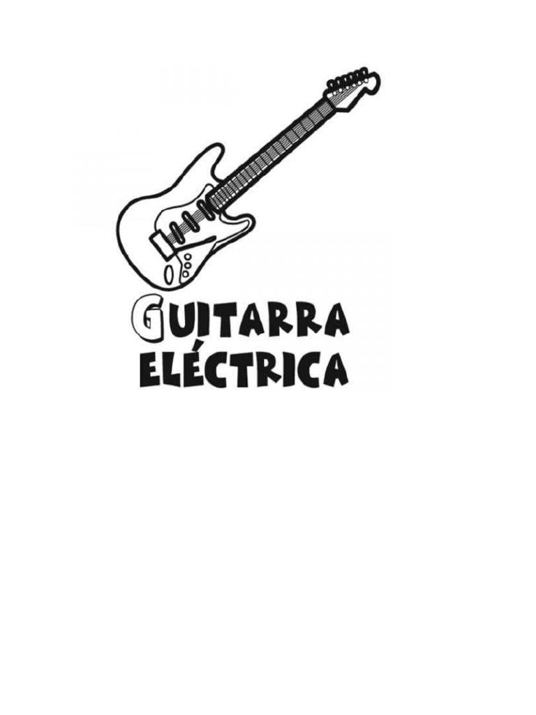 Encantador Guitarra Eléctrica Para Colorear Viñeta - Dibujos Para ...