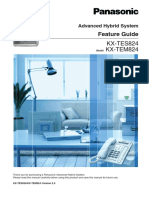 PANASONIC Advanced Hybrid System Feature Guide Model KX-TEM824/KX-TES824