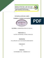 Inv de Campo Marvel Corp