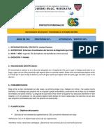 Formato de Proyecto Personal 2017 Hospital Del Nino