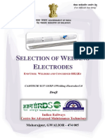 Draft Handbook on Selection of Welding Electrodes for Comments