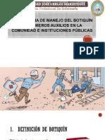 Importancia de Manejo Del Botiquín de Primeros Auxilios