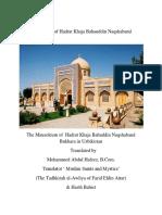 MALFUZAT OF KHAJA BAHAUDDIN NAQSHBAND