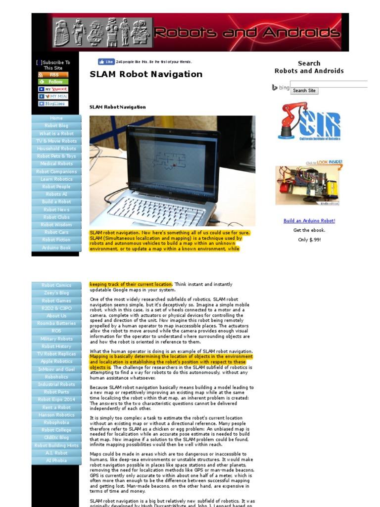 SLAM Robot Navigation   Emerging Technologies   Tecnología
