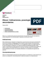 Efexor Indicaciones Posologia y Efectos Secundarios 19914 Ncsfir