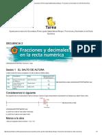 Ayuda Para Tu Tarea de Secundaria Primer Grado Matemáticas Bloque I Fracciones y Decimales en La Recta Numérica