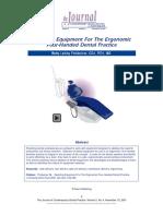 Selecting Equipment for the Ergonomic Four-Handed Dental Practice