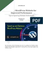 WordPress Optimization Tips - Studyopedia