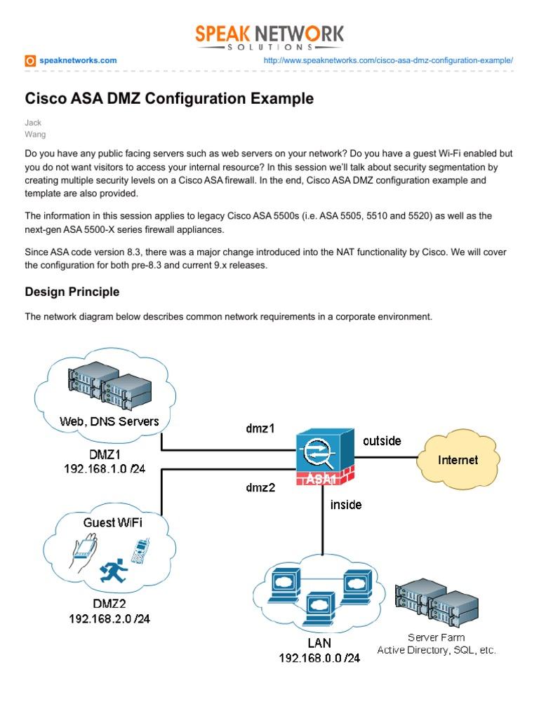 Cisco ASA DMZ Configuration Example pdf1 | Ip Address