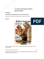GCSE History Sample Responses Germany in Transition 1919 1939
