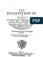 Campion- The discription of a Maske (1607)