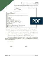 CF SP 3N Notice of APC Non-Detainee
