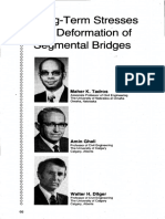JL-79-July-August Long-Term Stresses and Deformation of Segmental Bridges