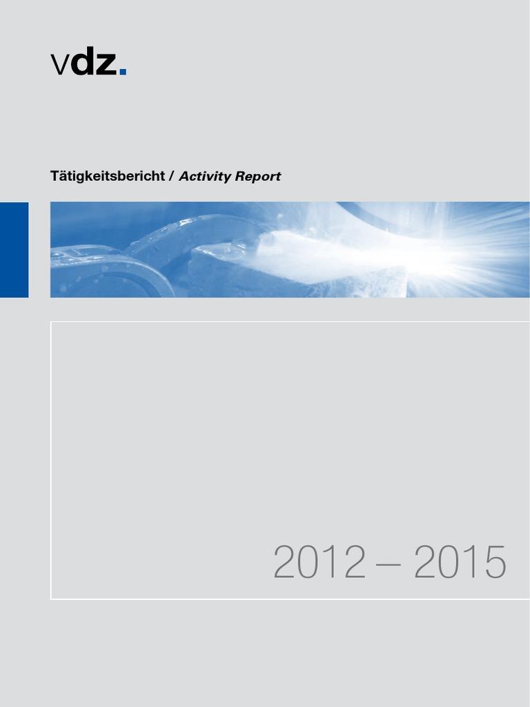 VDZ Taetigkeitsbericht 2012 2015 | Cement | Concrete