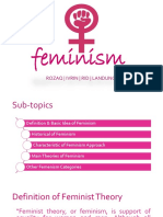 Feminism Theory in PPT