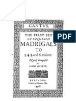 Wilbye, Iohn - The First Set of English Madrigals (1598)