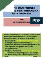 peran dan fungsi majelis pertimbangan profesi bidan