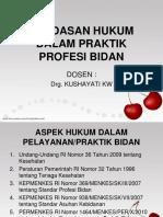 landasan hukum dalam praktik profesi bidan
