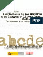 Otras Miradas. Aportaciones de Las Mujeres a La Lengua y Literatura Castellanas