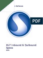 Hl 7 Inbound Outbound Specs