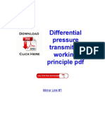 Differential Pressure Transmitter Working Principle PDFjhkljnkjh