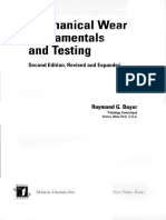 (Dekker Mechanical Engineering) Emanuele Neri, Davide Caramella, Carlo Bartolozzi, A.L. Baert-Mechanical Wear Fundamentals and Testing, Revised and Expanded-CRC Press, Marcel Dekker (2004)