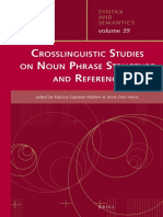 (Syntax and Semantics) Patricia Cabredo Hofherr, Anne Zribi-Hertz (Eds.)-Crosslinguistic Studies on Noun Phrase Structure and Reference-Brill (2013)