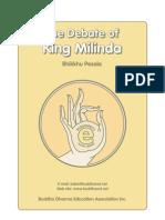 The Debate of King Milinda