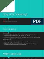 Why UML Modeling