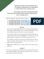 Aplicación de Herramientas de Simulacion de Sistemas Para La Optimización de Los Tiempos e Incremento de Las Utilidades en El Gymnasio