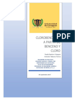 Clorobencenos a Partir de Benceno y Cloro