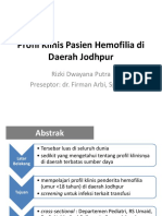Profil Klinis Pasien Hemofilia di Daerah Jodhpur.pptx