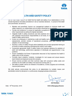 Health and Safetypolicy