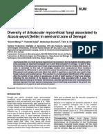 Diversity of Arbuscular mycorrhizal fungi associated to Acacia seyal (Delile) in semi-arid zone of Senegal
