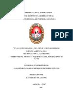 Evaluacion Geologica Preliminar y Declaratoria de Impacto Ambiental (Dia)