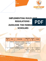 Implementing Rules and Regulations Auxilium the Federation Scholars