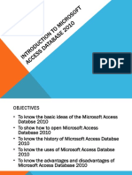 Introduction to Microsoft Access Database 2010