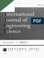 International Journal Eng Science 1966 n1 Str53 68