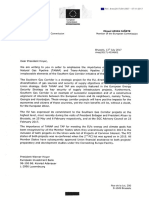 Letter on Southern Gas Corridor