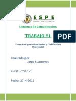 94542331 Codigo Manchestes y Codificacion Diferencial Christiam Rojas