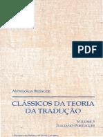 Guerini, A., e Arrigoni, M. T. Antologias Bilingues - Classicos Da Teoria Da Traducao - Volume 3 - Italiano-Portugues