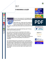 Self Help for Insomnia and Sleep Problems (1)
