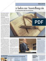 Die Freimaurer laden zur Ausstellung (Bericht)