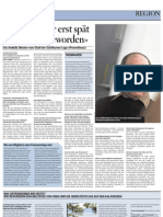 Interview mit dem M.v.St. (Zeitung Sonntag)