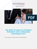 Six Step Process to Confront Someone Who is Sexually Harassing You