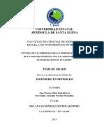 Estudio de Factibilidad Para La Perforación Vertical de Un Pozo de Petróleo Con Taladros Hidráulicos Automáticos en El Ecuador (1)