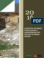 Cadastro Minas Paralisadas e Abandonadas 2016l