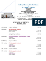 12. Schedule of Divine Services - December, 2017
