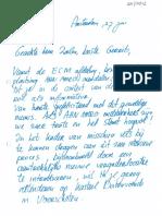 Brief aan Zalm