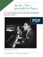 3 Conseils de Pro Pour Apprendre Le Piano